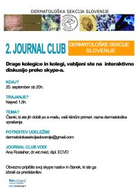 2. Journal club Dermatološke sekcije Slovenije